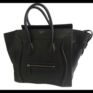 Celine mini luggage tote handbag